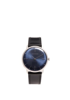 Type 1A stainless-steel and smooth-leather watch