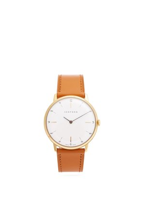 Type 1A stainless-steel and leather watch