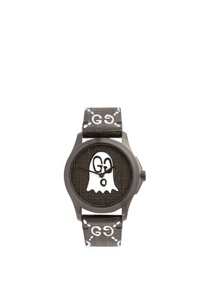 GG-Ghost textured-leather watch