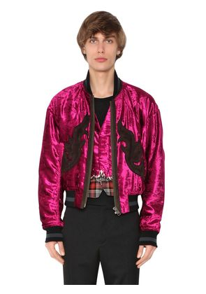 CHENILLE BOMBER JACKET W/ PATCHES
