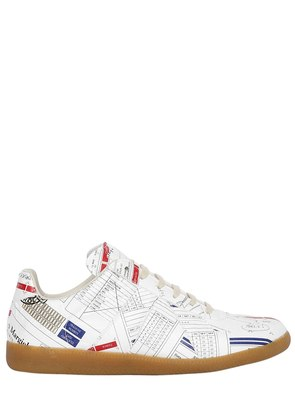 ALL OVER PRINT TECHNO PAPER SNEAKERS