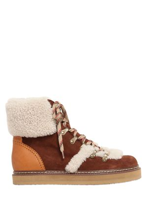 20MM SUEDE & SHEARLING BOOTS
