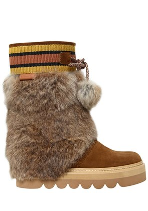 40MM SUEDE & LAPIN BOOTS