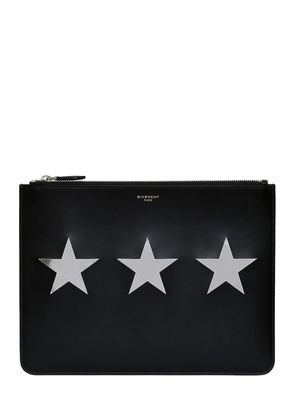 METALLIC STARS LEATHER POUCH