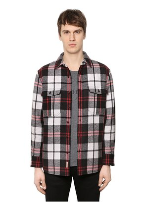 PADDED CHECK WOOL FLANNEL SHIRT