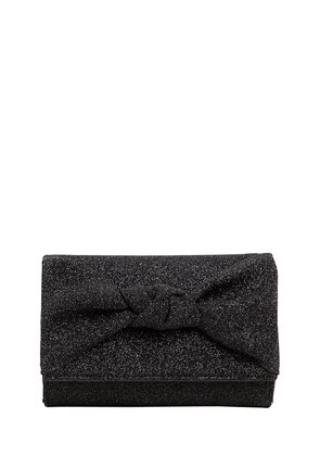 GLITTER FABRIC CLUTCH W/ KNOT DETAIL