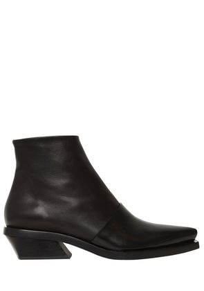 30MM LAYERED BRUSHED LEATHER BOOTS