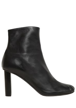 90MM LEATHER ANKLE BOOTS