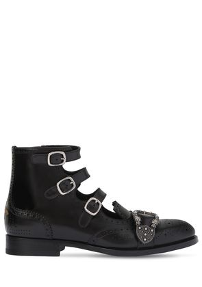 QUEERCORE LEATHER GLADIATOR BOOTS