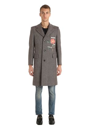 VINTAGE WOOL COAT WITH PATCH
