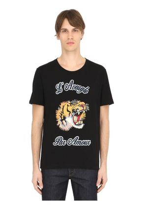 TIGER PATCH COTTON JERSEY T-SHIRT