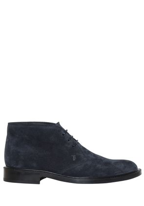 SUEDE LEATHER LACE-UP SHOES
