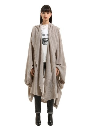 DRAPED WOOL BLEND COAT