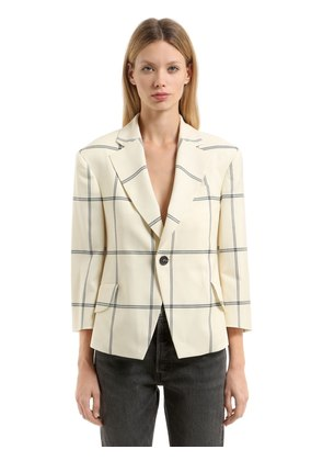 PRINCESS WOOL WINDOW PANE JACKET