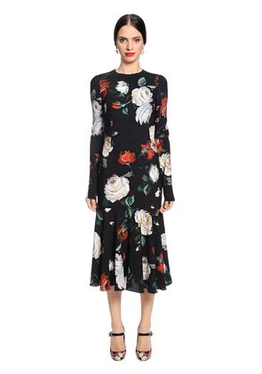 ROSES PRINTED CADY DRESS