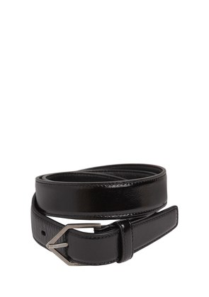 25MM TRIANGLE BUCKLE LEATHER BELT
