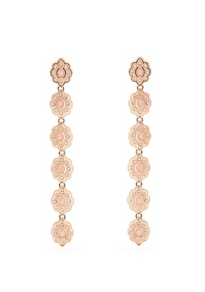 Embellished flower-drop earrings
