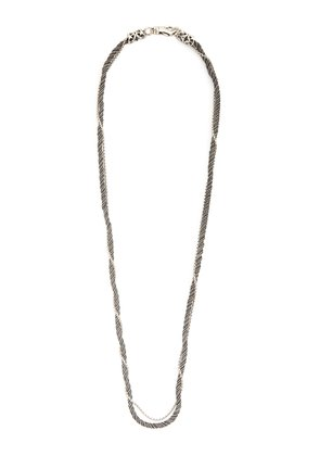 Rope sterling-silver necklace
