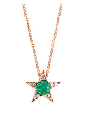 Emerald, diamond & pink-gold Istanbul necklace