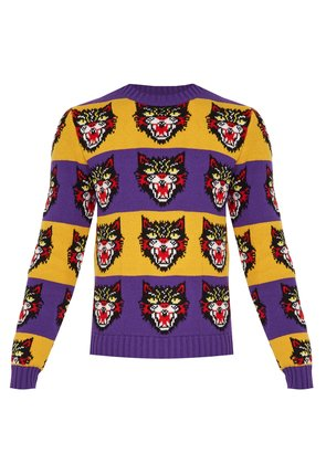 Angry Cat striped wool sweater
