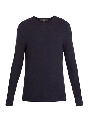 Giles crew-neck ribbed-knit wool sweater