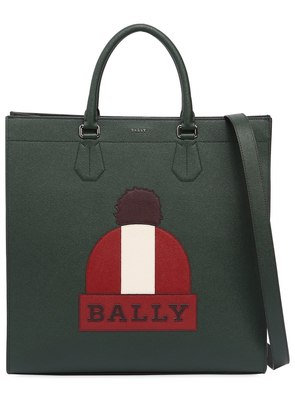 BEANIE PRINTED LEATHER TOTE BAG