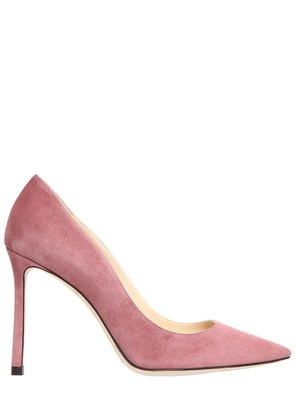 100MM ROMY SUEDE PUMPS