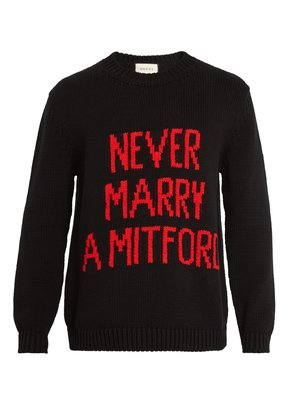 Never Marry a Mitford sweater