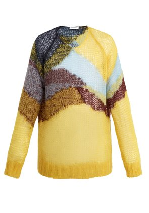 Loose-knit wool-blend sweater