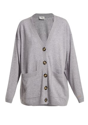 Sahar patch-pocket wool cardigan