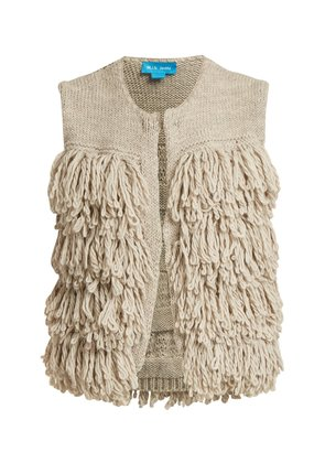 Woodstock loop-stitch knit gilet
