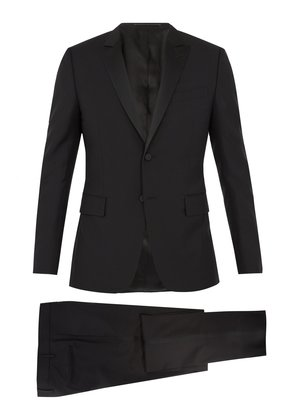 Satin-lapel wool and mohair-blend tuxedo