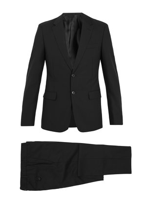 Slim-fit wool-blend suit