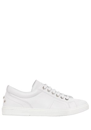 SMOOTH LEATHER LOW TOP SNEAKERS