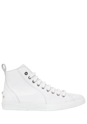 SMOOTH LEATHER HIGH TOP SNEAKERS
