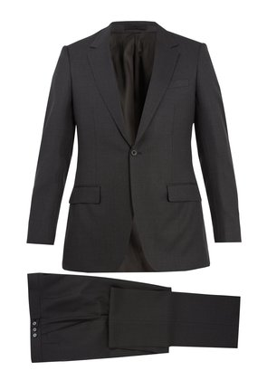 Single-breasted wool-blend suit