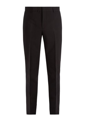 Slim-leg mohair and cotton-blend trousers
