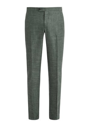 Wool-blend tailored trousers