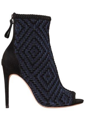 100MM MONISE OPEN TOE ANKLE BOOTS