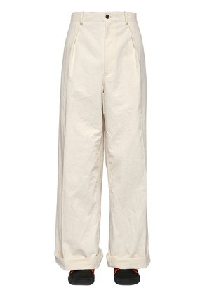 34CM WASHED COTTON TWILL PANTS