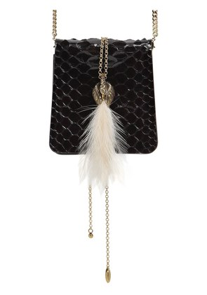 SMALL SECRET PYTHON BAG W/ FEATHER