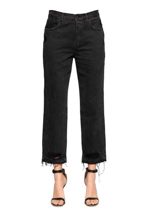 IVY HIGH RISE CROP STRAIGHT LEG JEANS