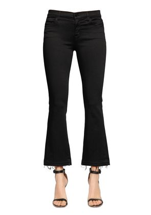 SELENA MID RISE CROP BOOT CUT JEANS