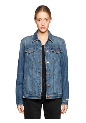 CIRA OVERSIZED DESTROYED DENIM JACKET
