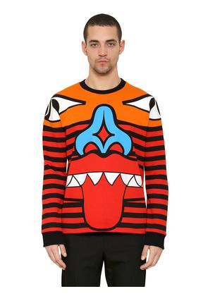 TOTEM PATCHWORK COTTON SWEATSHIRT
