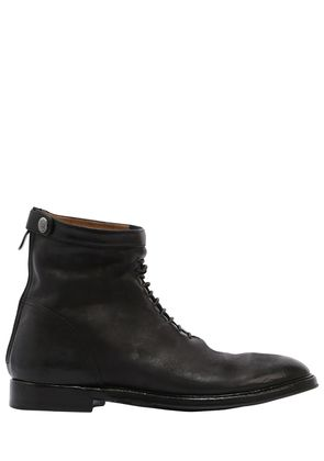 ZIPPED WASHED LEATHER BOOTS