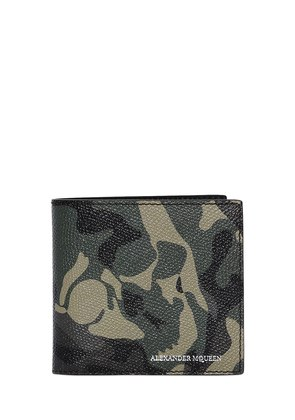 SKULL CAMOUFLAGE COATED LEATHER WALLET