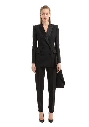 LIGHT WOOL & SILK BLEND JACKET WITH TAIL