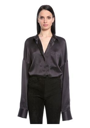 OVERSIZED SILK SATIN SHIRT
