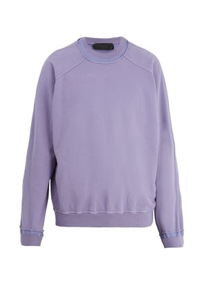 Raw-edge cotton-jersey sweater